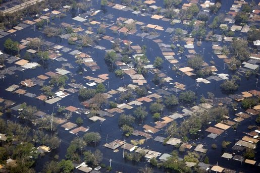 impact of hurricane katrina 0% of 160k loading sources: army corps of engineers us geological  survey dartmouth flood observatory, associated press census bureau new.